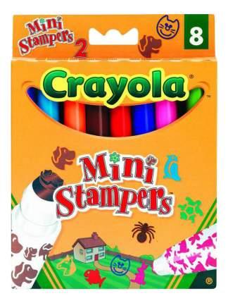 Цветные смываемые фломастеры - 8 шт + мини-штампы Домашние животные