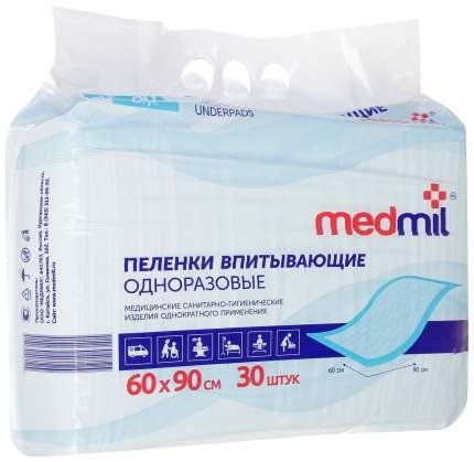 Пеленки впитывающие Medmil 60x90 см Оптима 30 шт.