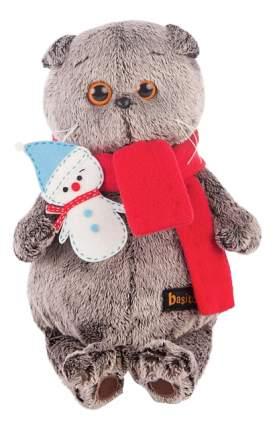 Мягкая игрушка BUDI BASA Басик в шарфике со снеговичком ks19-073