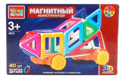 Магнитный 3D-Конструктор 40 Мини-Деталей Город Мастеров Xb-4013-R
