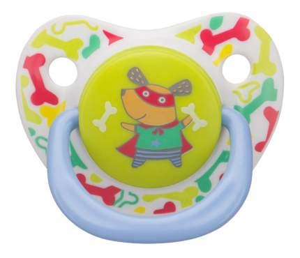 Соска-пустышка силиконовая ортодонтической формы dog Happy Baby