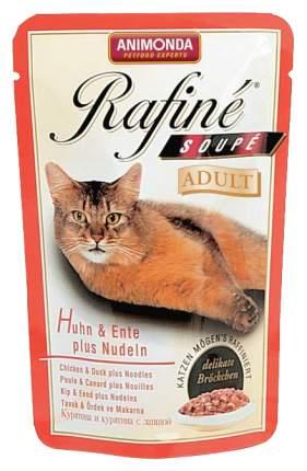 Влажный корм для кошек Animonda Rafine Soupe Adult, курица, утка, 24шт, 100г