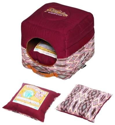 Домик для собак Katsu Уют бордовый размер S 30х30х16 см