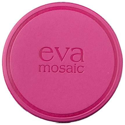 Пуфик для пудры EVA MOSAIC Малиновый