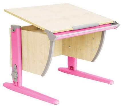 Парта Дэми СУТ 14-01Д 75 см С задней двухъярусной приставкой Клен Розовый