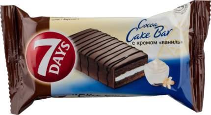 Пирожное бисквитное 7 Days cake bar глазированное с кремом ваниль 30 г