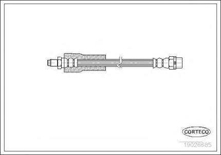 Шланг тормозной Corteco 19026685