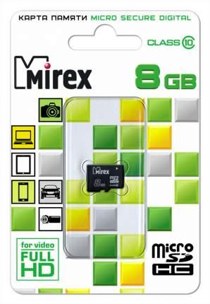 Карта памяти microSDHC с адаптером MIREX 8GB (class 10)