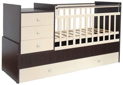 Кровать-трансформер детская Фея 1000 Венге/Бежевый