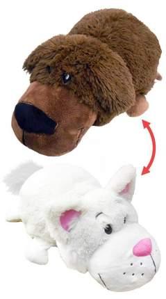 Мягкая игрушка 1 TOY Вывернушка Шоколадный лабрадор белый кот 40 см