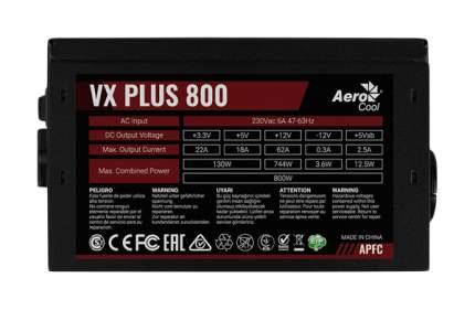 Блок питания компьютера Aerocool VX PLUS 800