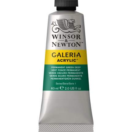 Акриловая краска Winsor&Newton Galeria перманентный насыщенно-зеленый 60 мл