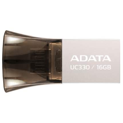 Флэш диск A-DATA 16Gb AUC330-16G-RBK Brown