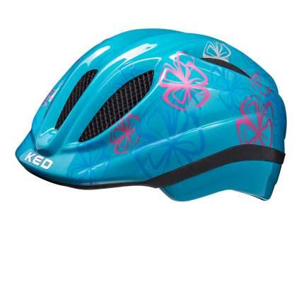 Шлем детский KED Meggy Trend Lightblue Flower S/M