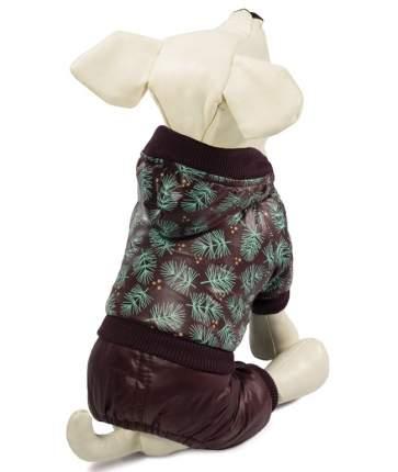 Комбинезон зимний для собак Triol Шишки, размер M длина спины 30см