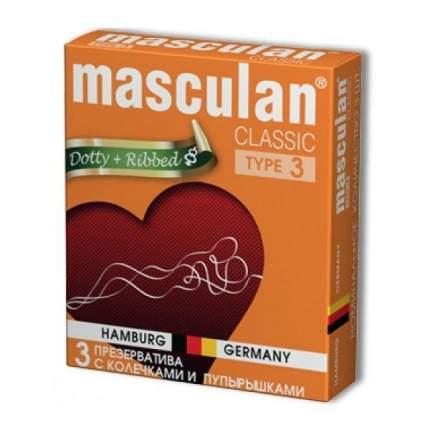Презервативы Masculan №3 Classic с колечками и пупырышками 3 шт.