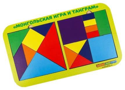 Набор головоломок 2.0 «Монгольская игра и танграм», 083308 Woodland (Сибирский сувенир)