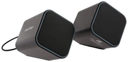 Колонки SmartBuy Cute, 2,0, чёрные/серые, USB, Регулятор громкости, Мощность: 6 Вт