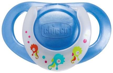 CHICCO Пустышка силиконовая Physio, цвет: голубой, 2 штуки (от 4 месяцев) 17710.00