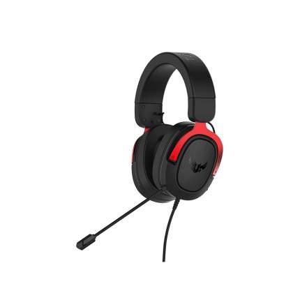 Игровые наушники Asus TUF Gaming H3 Black/Red (90YH02AR-B1UA00)