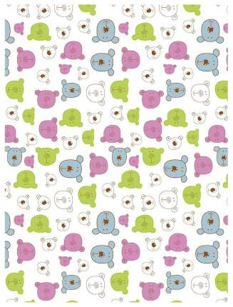 Плед-покрывало Baby Nice Разноцветные мишки на белом 100x118