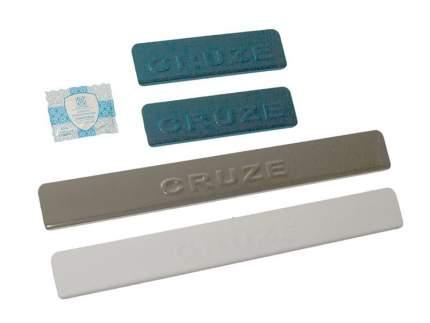 Накладки на пороги Chevrolet Cruze 2009-> Dollex NPS-067