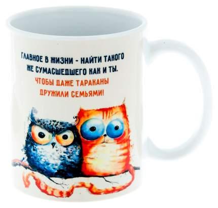 Керамическая кружка 3Dollara Сова и кот. MUG0142