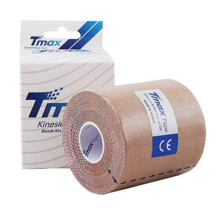 Кинезио тейп Tmax Extra Sticky 7.5x5, хлопок - 96%, спандекс - 4% 423914-beige