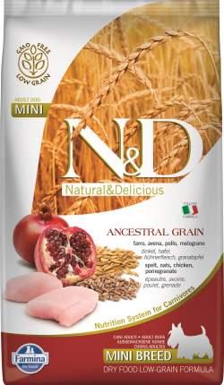 Сухой корм для собак Farmina N&D Ancestral Grain Adult Mini, курица и гранат, 2,5кг