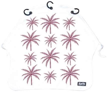 Накидка защитная на коляску и автокресло Pram Curtain Palm Trees Purpule