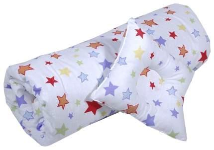 """Набор для детской коляски/кроватки """"Эдельвейс"""", 2 предмета, бязь (белый)"""