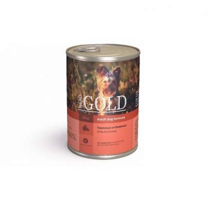 Консервы для собак NERO GOLD Adult Dog Formula, говядиьи отбивные, 410г