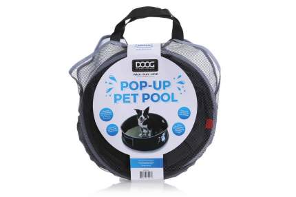 Бассейн для собак Doog Medium, черный, 91 х 91 х 25 см