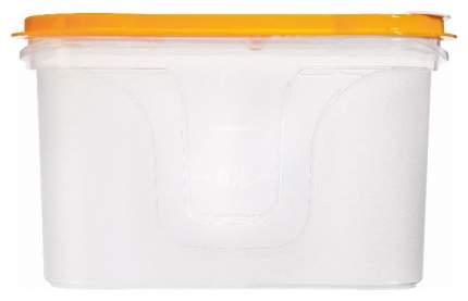 Банка для хранения Полимербыт 644 Прозрачный, оранжевый