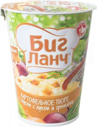Пюре картофельное Биг ланч с соусом с луком и гренками 50 г