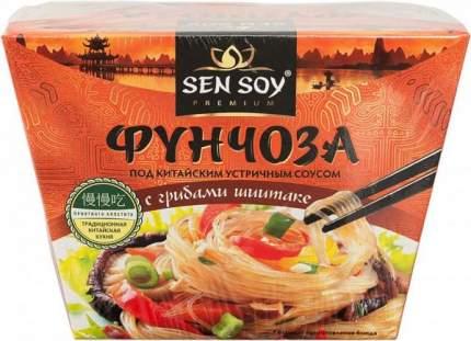 Фунчоза Sen Soy под китайским устричным соусом с грибами шиитаке 125 г