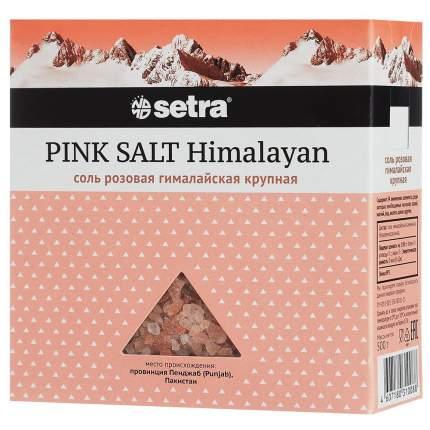 Соль Setra розовая гималайская крупная 500 г