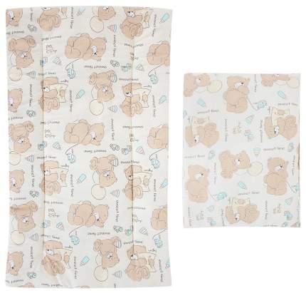 Комплект в коляску Leader Kids «Мишка с шариком» GL000742171, бязь, Молочный