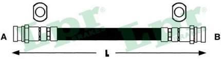 Шланг тормозной системы Lpr 6T47417