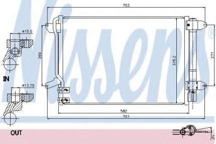 Радиатор кондиционера Nissens 940238