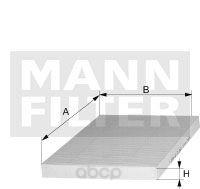 Фильтр воздушный салона MANN-FILTER CU23019