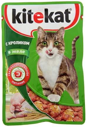 Влажный корм для кошек Kitekat, с кроликом в желе, 28 шт по 85г