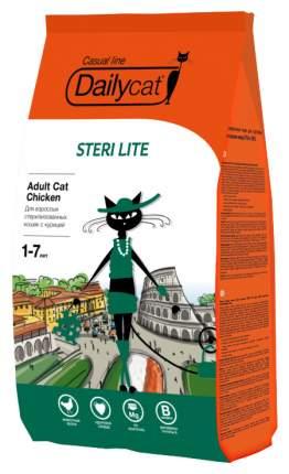 Сухой корм для кошек Dailycat Casual Line Steri Lite, для стерилизованных, курица, 0,4кг