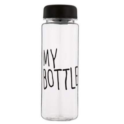 Бутылка для воды Be First My Bottle 400 мл, черная крышка