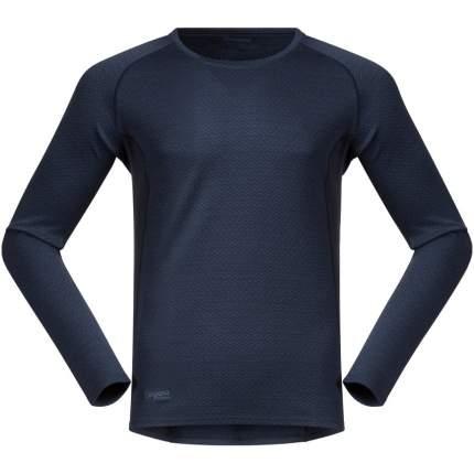 Лонгслив Bergans Snoull Shirt 2019 мужской темно-синий, S