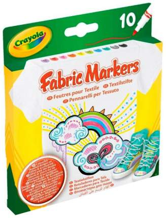 Набор фломастеров для росписи по ткани Crayola Fabric Markers, 10 штук 58-8633