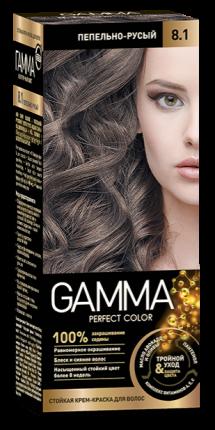Краска для волос SVOBODA GAMMA Perfect color пепельно-русый 8,1, 50гр
