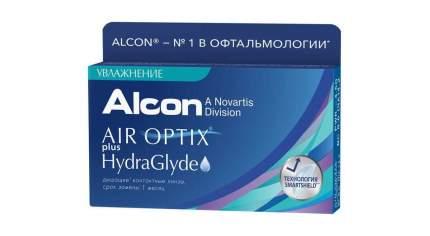 Контактные линзы Air Optix plus HydraGlyde 6 линз +8,00