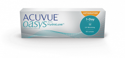 Контактные линзы Acuvue Oasys 1-Day with HydraLuxe for Astigmatism 30 линз -3,75/-1,75/180