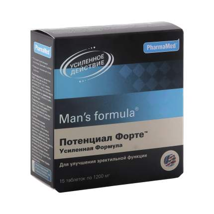 Man's formula PharmaMed потенциал форте усиленная формула таблетки 15 шт.